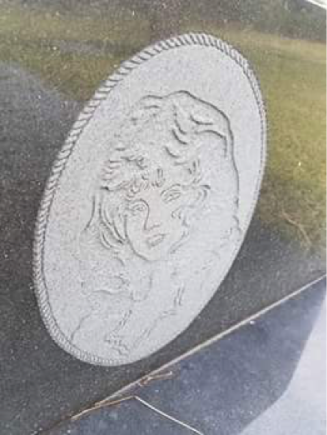 Figure 6 Etched portrait on headstone