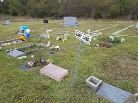 Figure 8 Large area designated for baby burials
