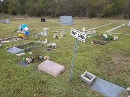 Figure 8 Large area designated for baby burials